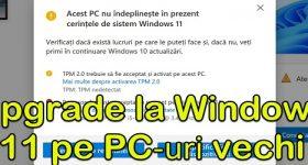 在较旧的计算机上升级 Windows 11