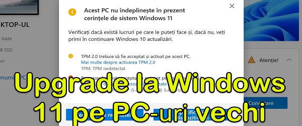 """Atnaujinkite """"Windows 11"""" senesniuose kompiuteriuose"""